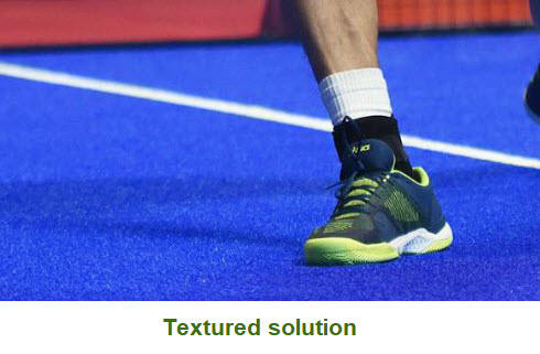 Textured turf for Padel Courts