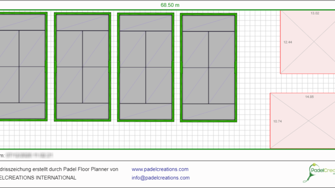 Layouts with Padel Floor Planner - Padel