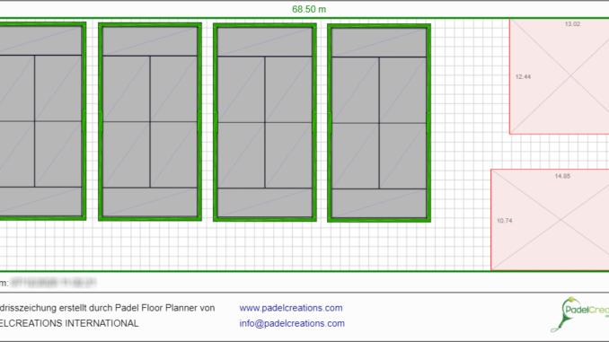 Flächenplanung mit Padel Floor Planner - Padel